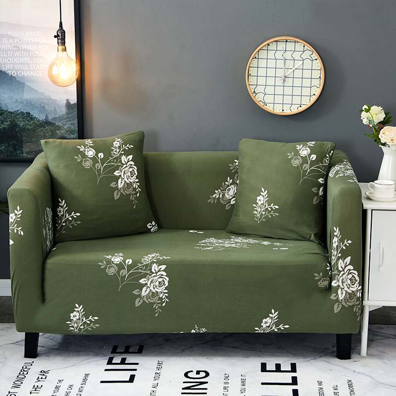 Green Plants Universal Stretch Furniture Covers For Living