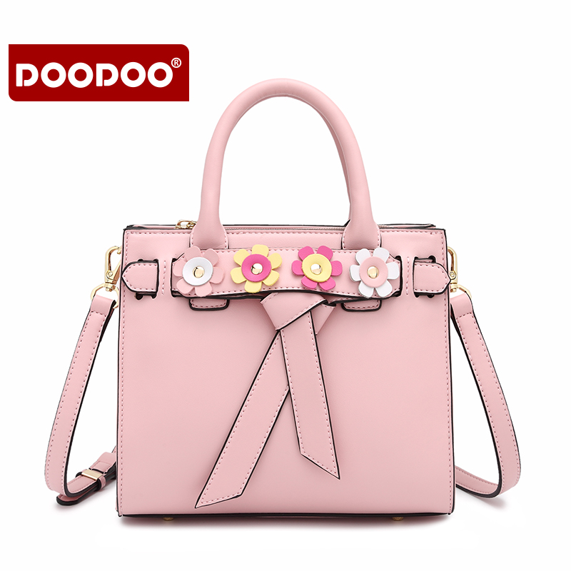 DOODOO Flower Trend women messenger bag ladies New design handbag with female crossbody bag Lovely shoulder messenger bags rowling original design new men s handbag male double screw lock design trend package shoulder bag messenger crossbody bag mb15