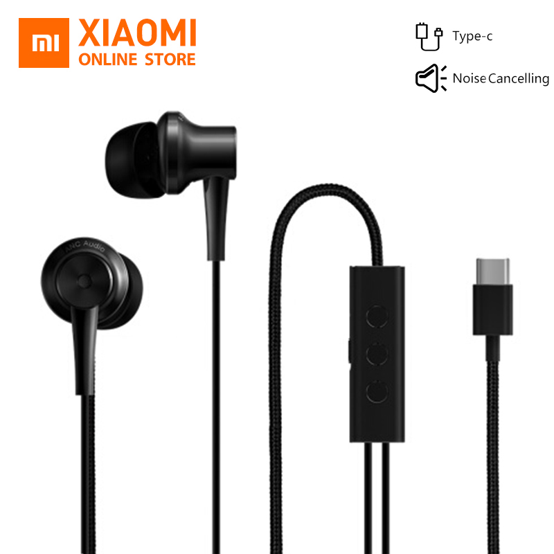 Original Xiaomi ANC Earphone Type C Noise Cancelling Earphone Wired Control With MIC For Xiaomi Max