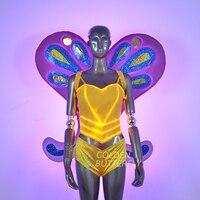 Одежда со светодиодами DJ light clothing притягательный. лёгкий костюм Light wings