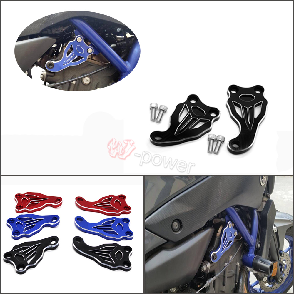 For YAMAHA MT07 FZ07 MT-07 FZ-07 2014-2016  Motorcycle Accessories Fixed Frame and Engine Mounting Bracket Slider Cover for yamaha mt 01 mt 03 mt 07 fz 07 mt07 mt03 mt01 motorcycle navigation frame mobile phone mount bracket with usb charge port
