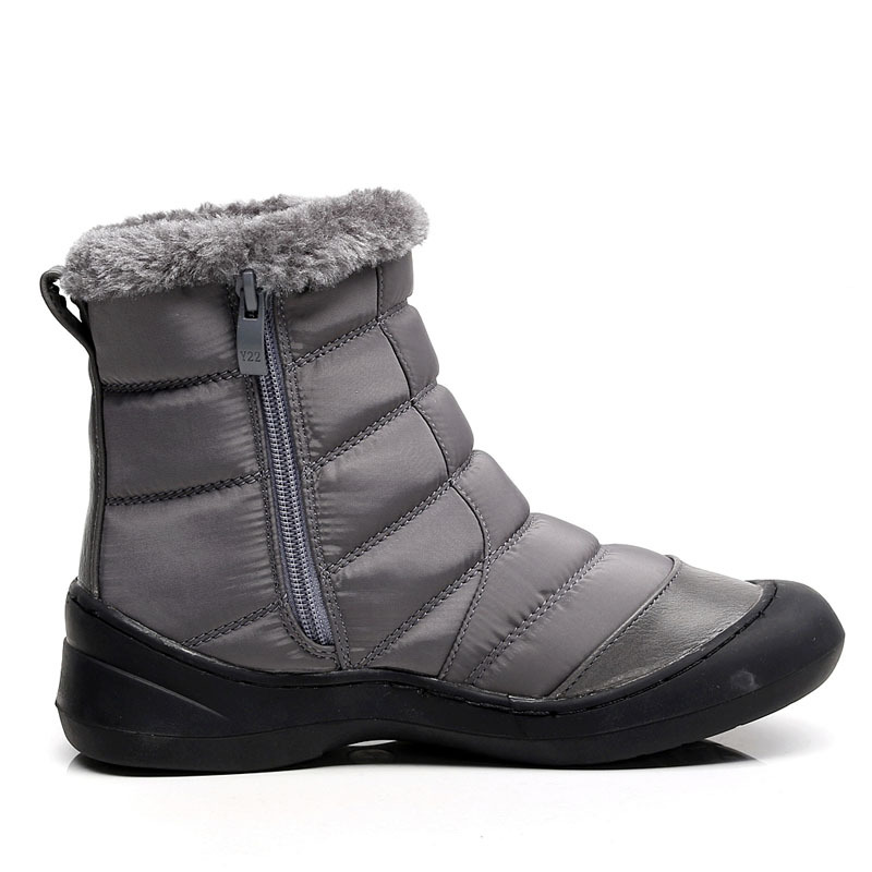 Factory direct warm and comfortable Korean women 39 s snow boots solid color round head side zipper flat bottom mother shoes in Mid Calf Boots from Shoes
