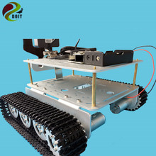 ESP8266 RC WiFi Video Control TD200 Double Crawler Tank Chassis with Nodemcu Development Board+ Motor Drive board by Phone