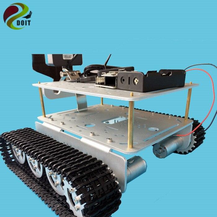 Rc-panzer Einfach Doit Rc Kit T200 Drahtlose Tank Chassis Gesteuert Durch Android Und Ios Telefon Basierend Auf Nodemcu Esp8266 Development Kit Diy Rc Spielzeug Fernbedienung Spielzeug