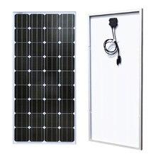 Panneau solaire en verre 18V 100w monocristallin de haute qualité photovoltaïque 12v batterie maison cellule solaire solarpanel Sonnenkollektor