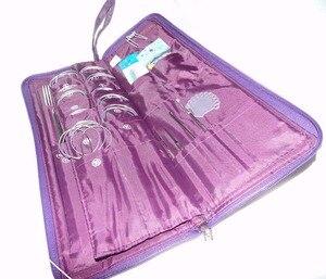 Image 5 - 104 Pcs Rvs Rechte Naald Circulaire Naalden Breinaalden Haaknaald Weave Set Met Tas Naaien Naald Kits
