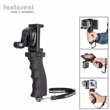 Fantaseal Action Camera Grip Mount w/ Cell Phone Clip for GoPro Grip Stabilizer Xiaomi Yi 4k SJCAM Eken h9 Garmin virb Holder цена