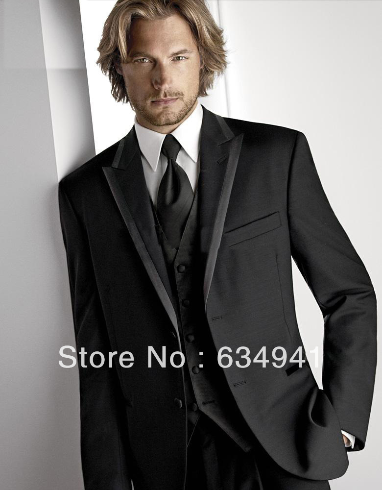 Aliexpress.com : Buy Free shipping / Custom Fit cheap black suit ...