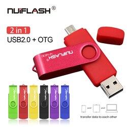 Colorido Flash USB OTG pendrive 128 GB GB 32 64 GB Pen drive Micro USB 8 GB 16 GB USB flash Drive Para Computador/Telefone Android
