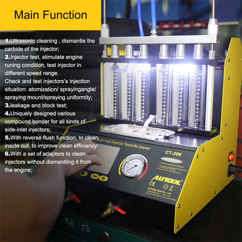 Autool Car Fuel Injector Cleaning Machine  (3)
