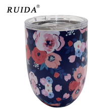 RUIDA 10oz New 304 egg-shaped cup Insulation Cup Cocktail glass Outdoor stainless steel vacuum flask ST004