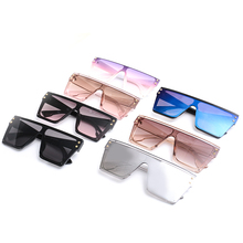 New Popular Large Sunglasses Transparent Gradient Frame 2019 Luxury Brand Design Womens Retro Oversized Square