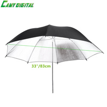 33″/83cm Reflector umbrella Photo Studio Flash Light Grained Black Silver Umbrella