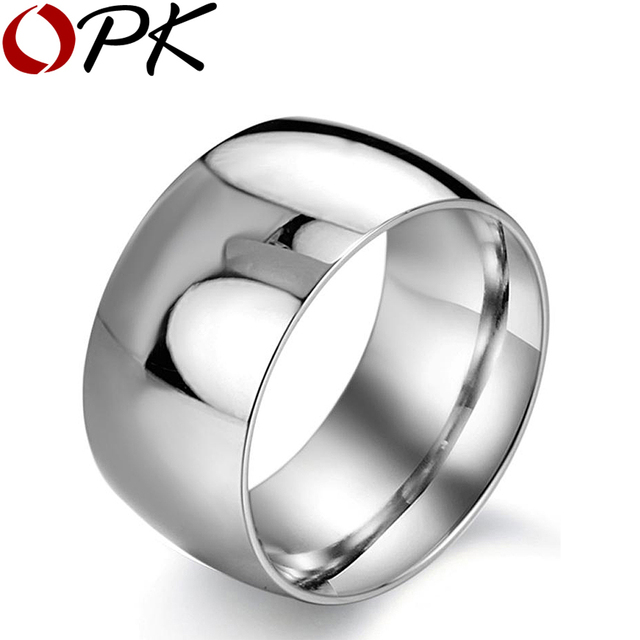OPK JEWELRY New personality 316L Stainless Steel Super Wide infinity ring for Men Exaggerated Style, 318 size 7/8/9/10/11/12/13