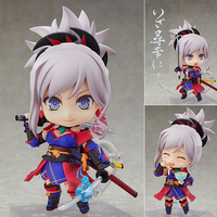 10CM Original Nendoroid Nendoroid Fate/Grand Order Saber/Musashi ABS & PVC Painted action figure collection toy doll with box