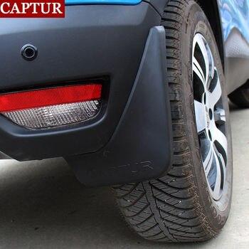 รถยนต์ด้านหน้าด้านหลัง Mudguards Mud Flaps Splash Guards สำหรับ Renault Captur 2014-2019