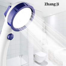 ZhangJi 3-Function handheld Shower Head with on/off switch high-pressure water saving nozzle Bathroom single ShowerHead