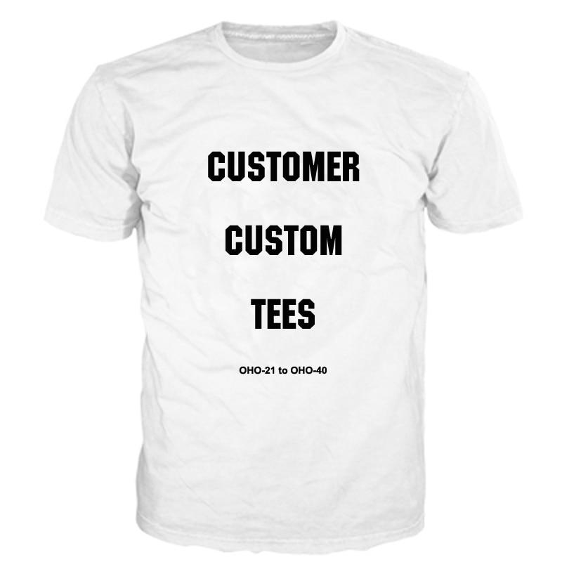 ONSEME Drop Verschiffen Kunden Individuelles T Shirts Tier/Anime/Graffiti/Kunst/Galaxy Muster 3D T Hemd männer/Frauen DIY Buchstaben T Shirts