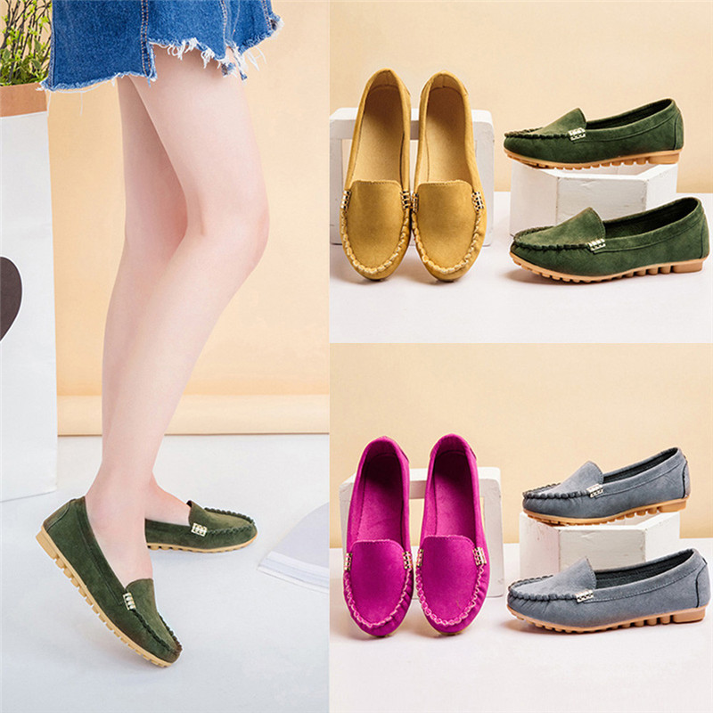 Womens Flats Ladies Comfy Ballet Shoes Soft Slip-On Casual Boat Shoes 2018 womens summer footwear Chaussures Femme Sapato