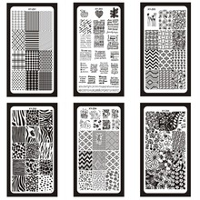 Nail Art Stamping Plates Template Geometry Flower Butterfly Image Pattern Manicure New Arrival