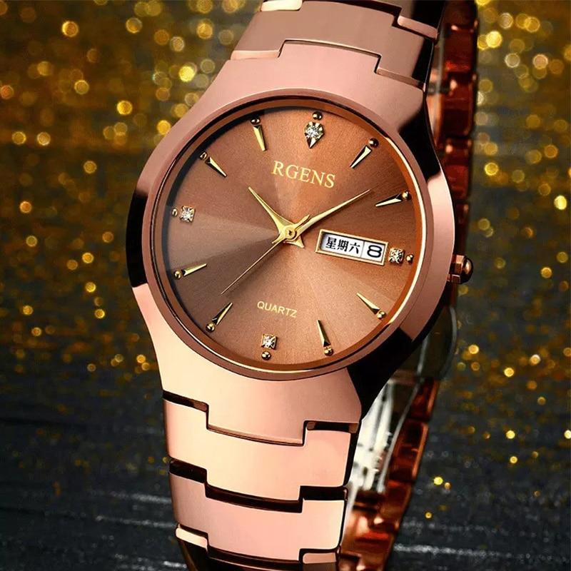 Man s Tungsten Steel Watch Hardlex Watch Mirror Quartz Strap 200M Waterproof Watch For Man Fashion