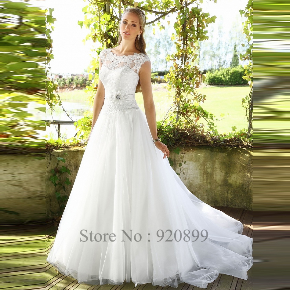 Wedding Rustic Wedding Dress popular rustic wedding dresses buy cheap a line lace bridal gowns 2016 scoop cap sleeve tulle brush train bride