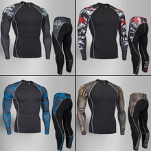 Thermal underwear for men winter & long johns base layer thermal sport set Compression stretch rashgard male