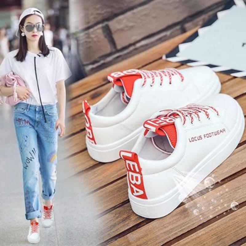 2018 mujeres vulcanize zapatos plataforma zapatos de lona - Zapatos de mujer - foto 6