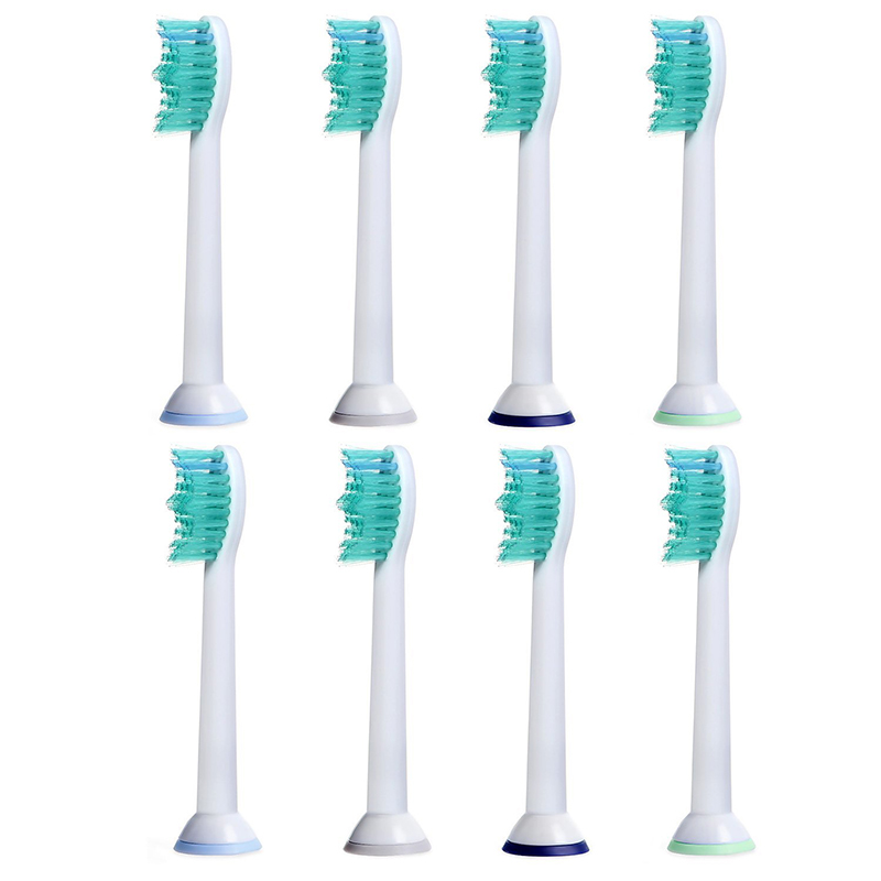 8pcs/lot hx6014 Toothbrush Heads for Philips Diamond Clean,FlexCare+,FlexCare Healthy White,Easy Clean,ProResult,Sonicare R710 image