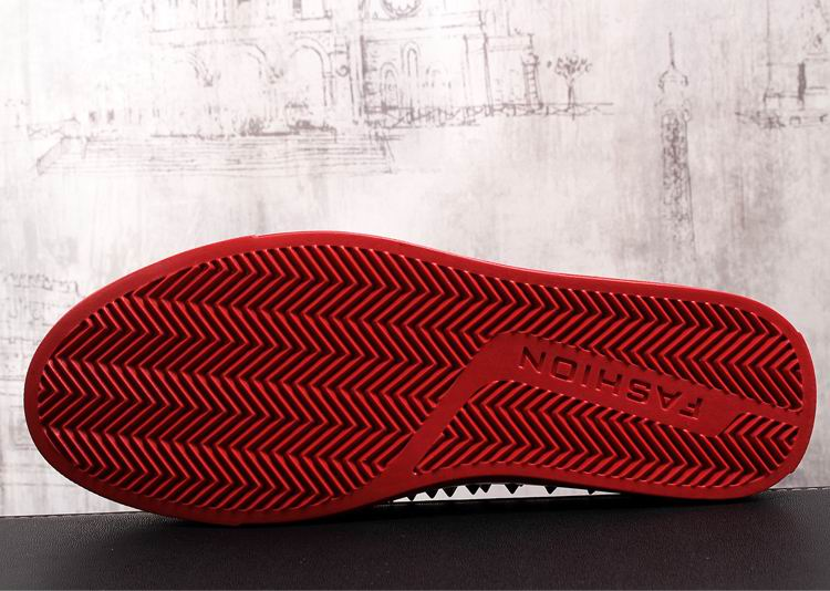 Rivets Charm Fashion Forward Men Casual Comfort Shoes Red Slip On Rhinestone Skull Charm Man Leisure Boast Shoes 38-43 14