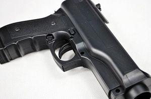Image 3 - 2 x pistola de luz para disparar, videojuegos deportivos, una mano, controlador de arma para juegos de controlador de accesorios remotos Nintend Wii