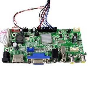 Image 4 - HDMI + VGA + 2AV + USB + Audio LCD Controller Board voor 14inch 15.6inch 17.3inch 1600x900 LP140WD2 LP156WD1 LP173WD1 Lcd scherm