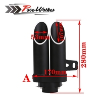 51mm High Quality Universal Motorcycle Double Exhaust Muffler Pipe Case Black Toce Z800 Bn300 Zx10r R1
