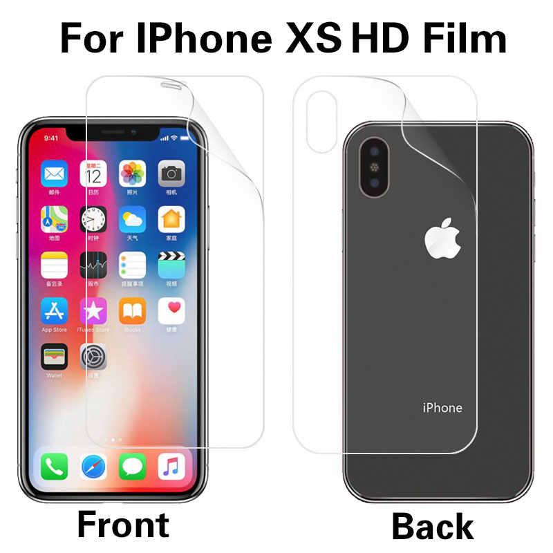 Anteriore e Posteriore Anti-Glare Matte Pellicola Per Il Iphone di Apple XR XS XS MAX D Trasparente Lucida Pellicola Cellulare protezione Dello Schermo del telefono Della Copertura