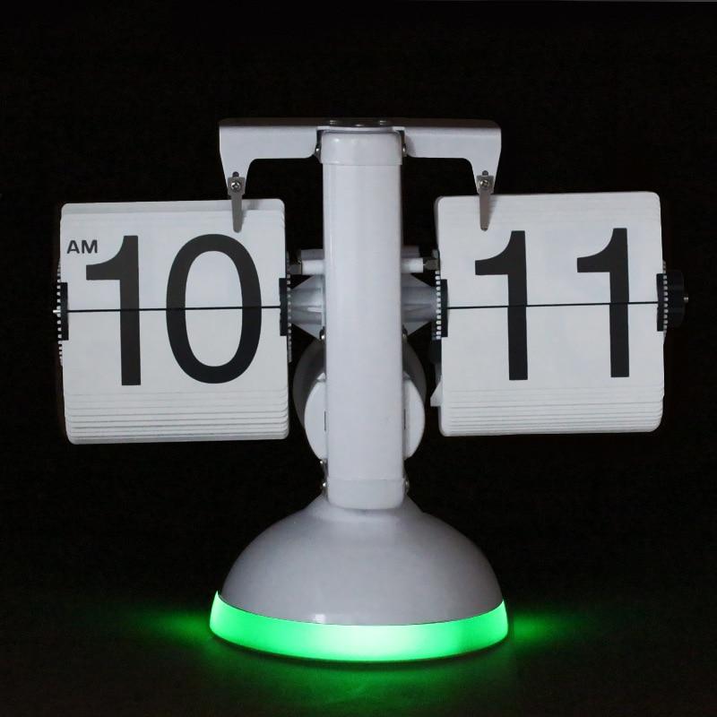 Galda pulkstenis Radošās svari Flip pulksteņa skaņas vadība LED - Mājas dekors - Foto 6