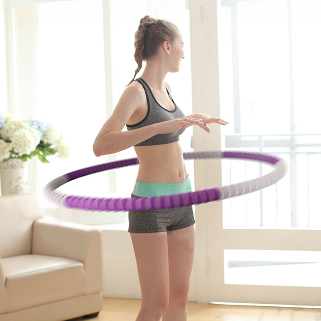 Entertainment Tools 82cm diameter Portable Fitness Removable Weight Loss Hard Pipe Equipment Waist Slimming Hula Hoops 4 Colors