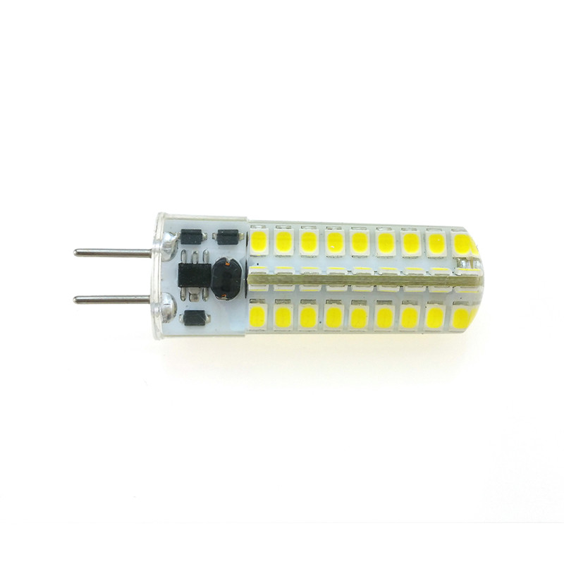 GY6.35 AC/DC 12V 5W 72 SMD 2835 LED Corn Lamp Silicone Crystal Light Bulb Adjustable light LED light bulb For home Reading