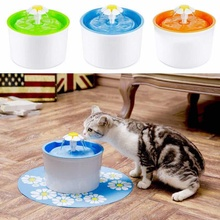 Estilo automático de la flor Cat Dog Electric Pet Drinking Fountain Pet Bowl Dispensador de agua potable Drink Filter