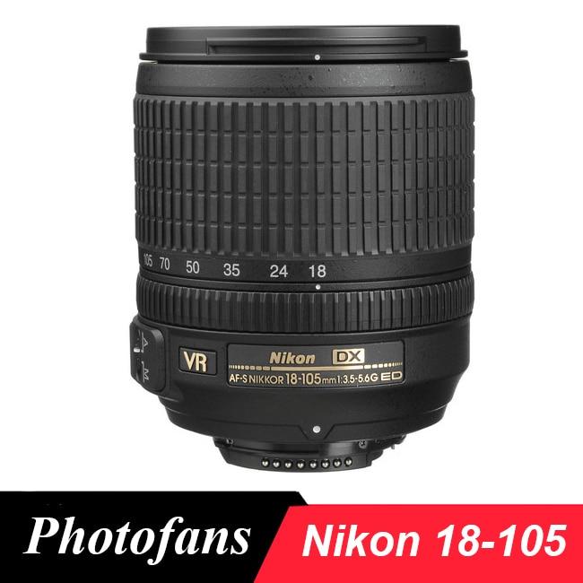 Nikon 18-105 mm f/3.5-5.6G ED VR Lens AF-S DX Nikkor Lenses for Nikon D3200 D3300 D3400 D5200 D5300 D5500 D90 D7100 D7200 D500 объектив nikon af p dx nikkor 18 55 mm f 3 5 5 6g vr