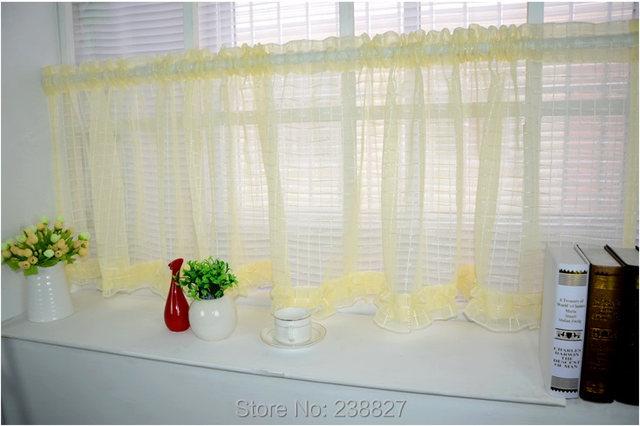 Online shop nieuwe witte korte gordijn keuken vitrages tule