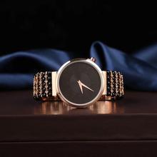 black tourmaline beads bracelet watch natural gemstone bracelet jewelry
