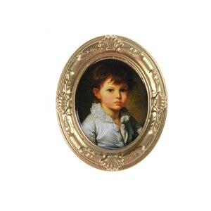 Image 5 - Mini cadre rétro peinture murale, meubles, 1:12, maison de poupée, accessoire Miniature, jeux classiques