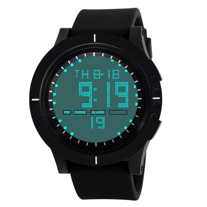 1PC Fashion Waterproof Watch Men Fashion Military Stainless Steel Digital LED Date Sport Quartz Wrist Digital