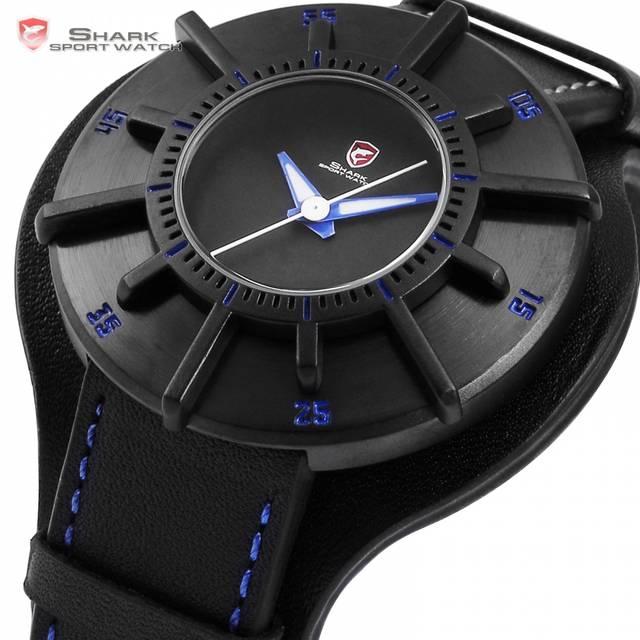 c28545ca95a placeholder Relógio Do Esporte Tubarão Azul de seda 3 D Caixa de Presente  Do Desenhista Homens Top