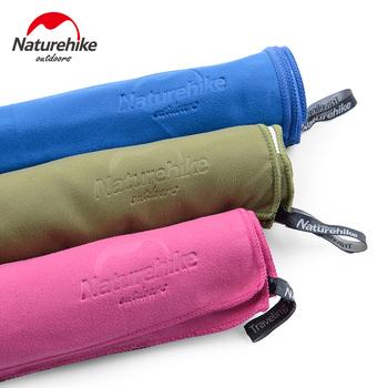 Naturehike Ultralight kompaktowy szybkoschnący ręcznik z mikrofibry antybakteryjny Camping piesze wycieczki ręcznik do twarzy i rąk zestawy podróżne na zewnątrz tanie i dobre opinie Quick-dry Gładkie barwione Poliester bawełna 80*40cm(towels) 130*73cm(bath towels) 63g 169g