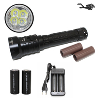 LED Diving Flashlight 4x CREE L2 4800lm Underwater Waterproof Support 18650 26650 Torch Brightness Light