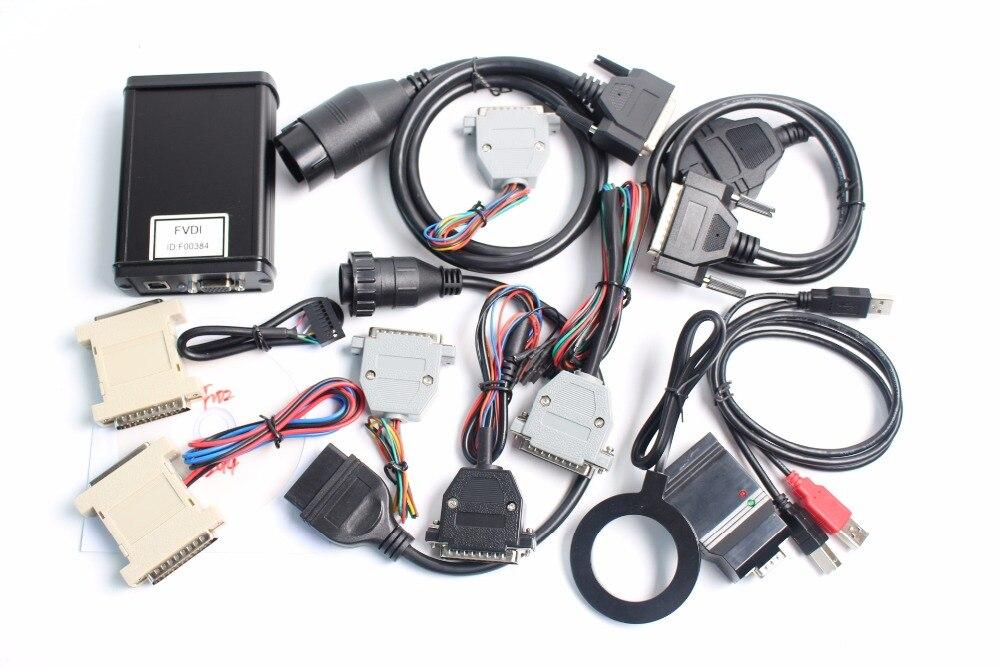 imágenes para DHL de la Alta Calidad FVDI Versión Completa Que Incluye 18 OBD2 Del Explorador de Diagnóstico FVDI ABRITES Comandante FVDI Software Activado En Stock