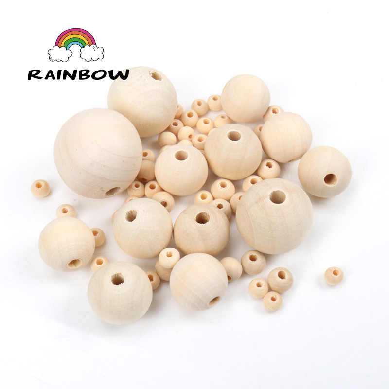 Natural Wooden round Spacer Loose beads For Jewelry making Handmake DIY Accessory Bracelet Necklace