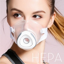 New Item Anti-PM2.5 Fog Gas Mask Respirator 10 High Efficiency Filters Food-grade Silicone Second-hand Smoke Dust-proof Mask