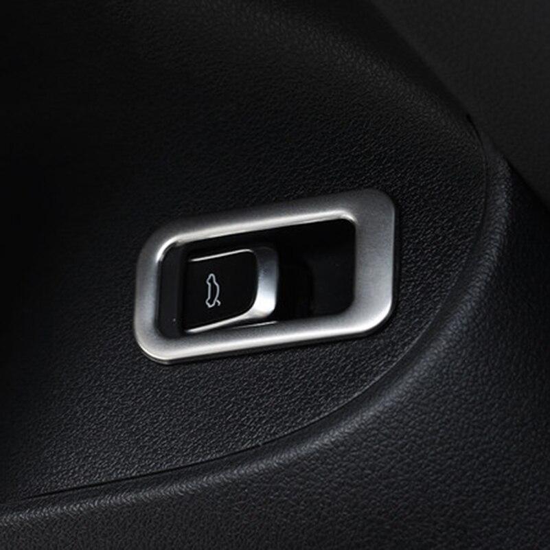 Для Ауди Q5 2008-2015 интерьер нержавеющей стали задний багажник переключатель кнопку Рамка Крышка отделка украшение 3D стикер